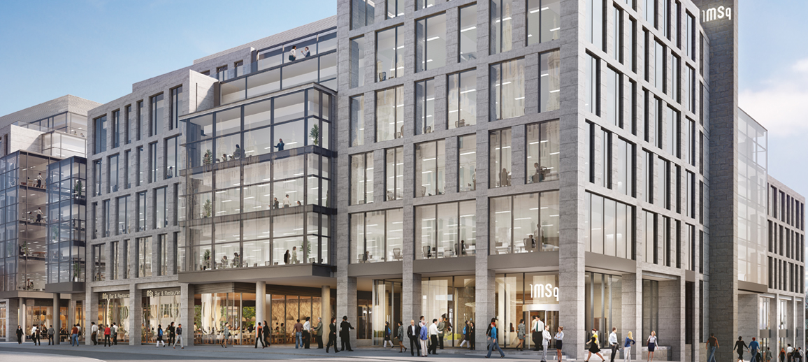 CGI of Building 1 at Marischal Square, Aberdeen