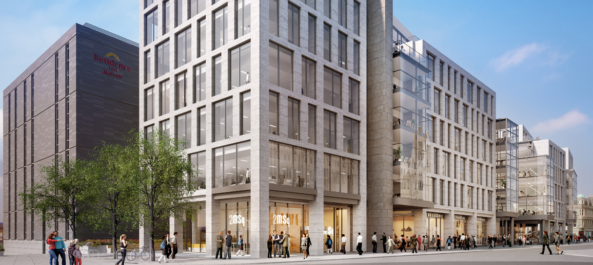 CGI of Building 2 at Marischal Square, Aberdeen