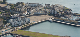 Aerial photo of Millbay in Plymouth