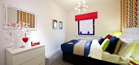 Photo of the show home bedroom at Vivo, Northshore